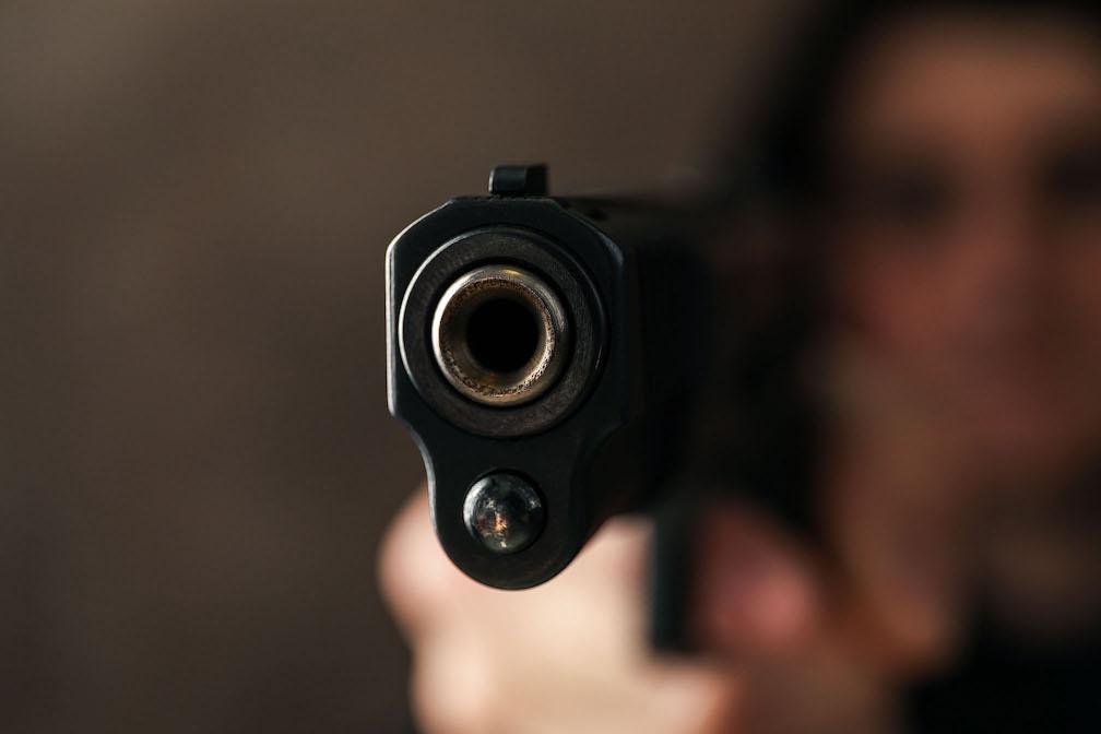 Workplace Violence_Man pointing gun